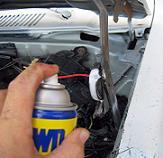WD-40 use- hood hinge