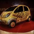 A custom Tata Motors' 'Nano' car, is see