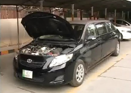 lahore invents a toyota corolla which runs on water   pakwheels blog