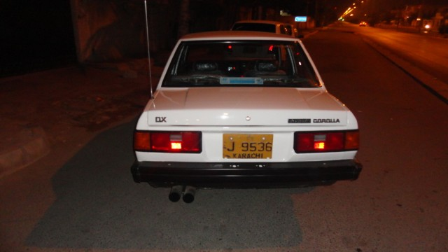 Corolla 1983 back view