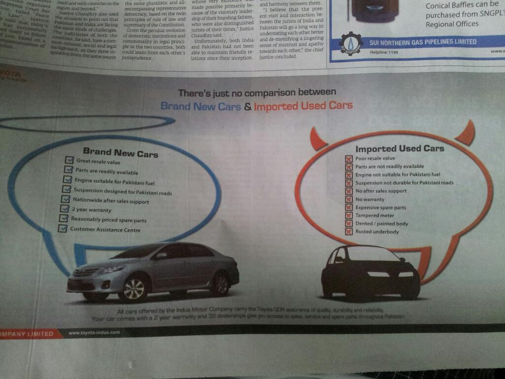 Imported Cars vs. Local Cars