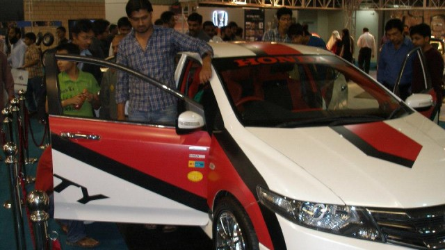 Honda Atlas Pakistan displayed a one-off edition of City at Pakistan Auto Parts Show