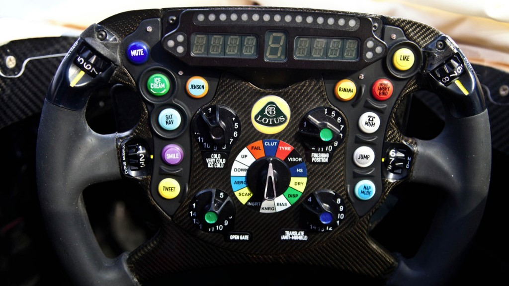 The coolest Formula One car steering wheel