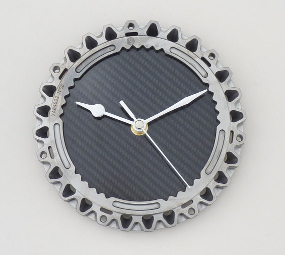 Titanium & carbon fiber F1 office wall clock made from Brawn GP Formula 1 car part