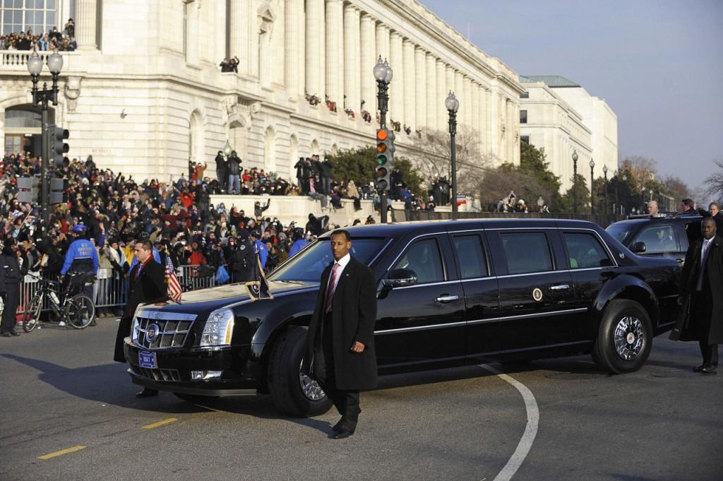 The limousine of US President Barack Oba