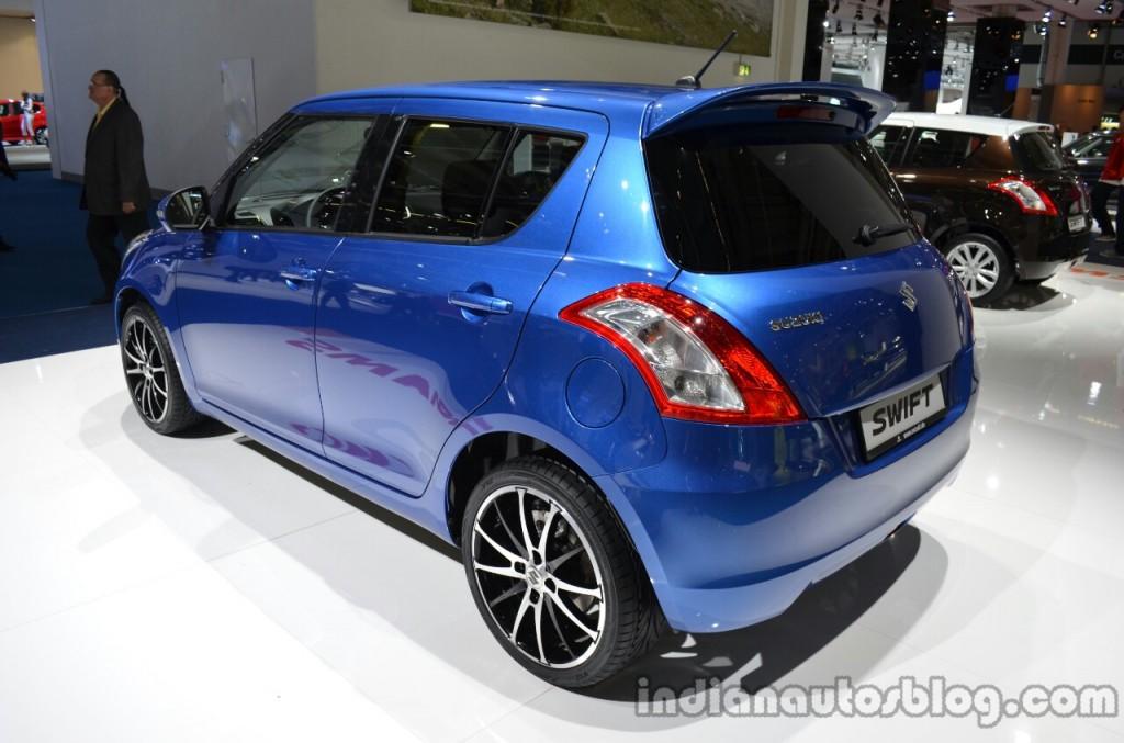 Rear-three-quarter-of-the-2014-Suzuki-Swift-facelift
