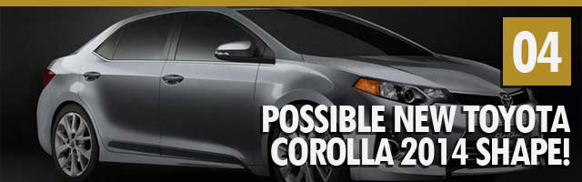 Possible New Toyota Corolla 2014 Shape!
