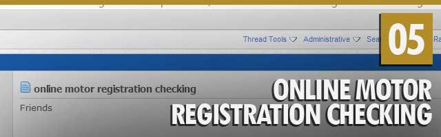 Online Motor Registration Checking