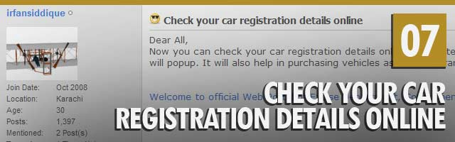 Check Your Car Registration Details Online