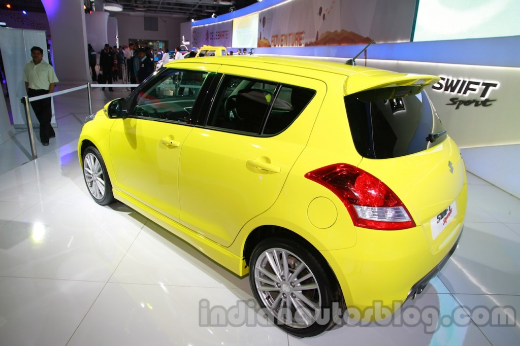 Suzuki-Swift-Sport-rear-three-quarters-left-at-Auto-Expo-2014
