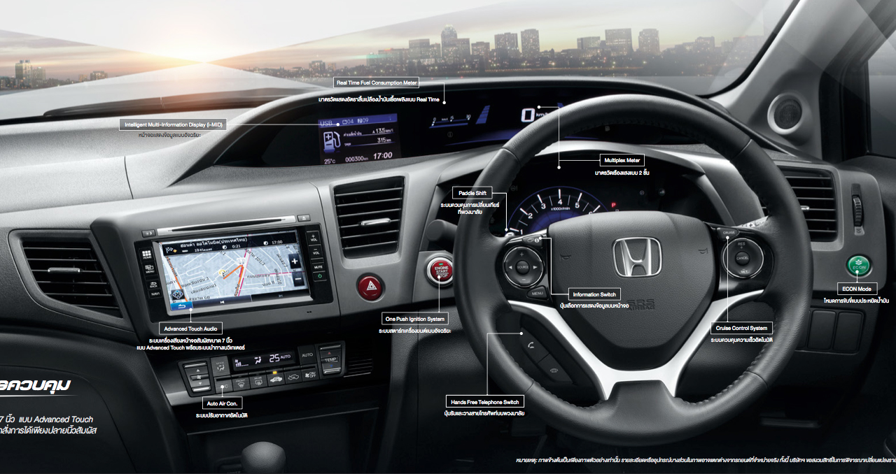 2014 honda civic facelift introduced in thailand