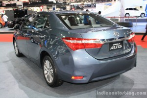 Toyota-Corolla-Altis-rear-three-quarters-left-at-2014-Bangkok-Motor-Show