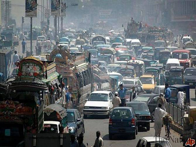 Traffic problems in Karachi