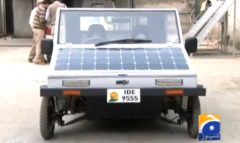 Pakistani Solar Panel Car Necessity Is The Mother Of