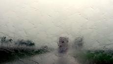 drive in heavy rain