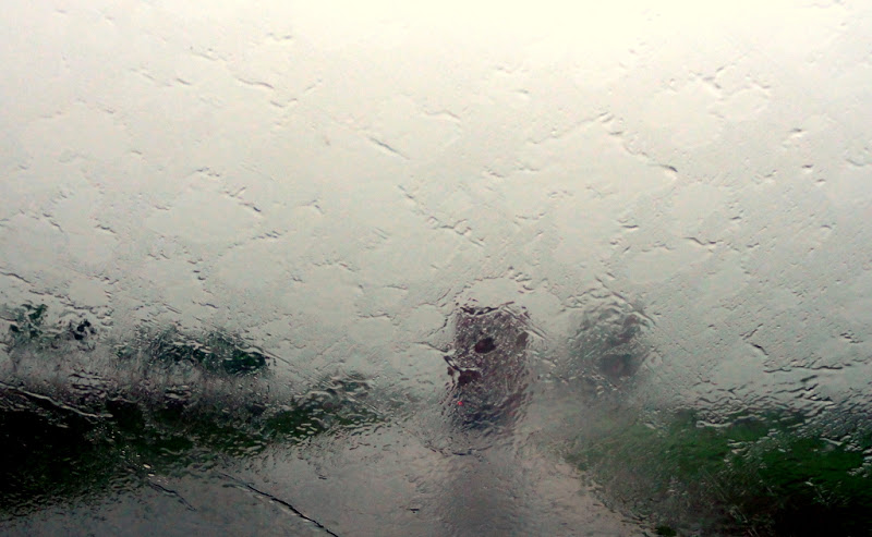 drive in heavy rain