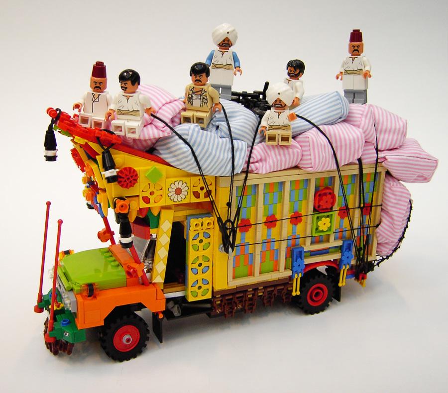 Danish Artist Creates Lego Truck Inspired By Pakistani