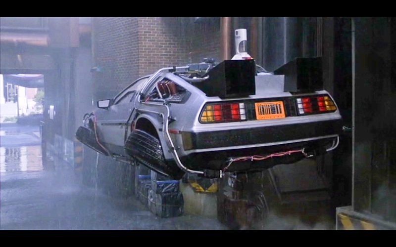 Delorean flying Car from the movie Back To The Future.