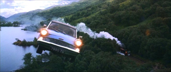 Ford Anglia from Harry Potter and the Chamber of Secrets.
