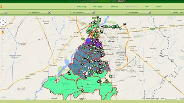 Lahore Waste Management Company - Vehicle Tracking