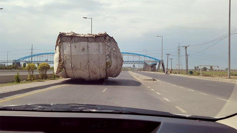 Overloaded Trucks Destroying Pakistani Roads