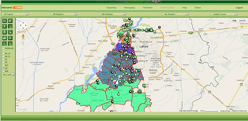 Vehicle Tracking System Map