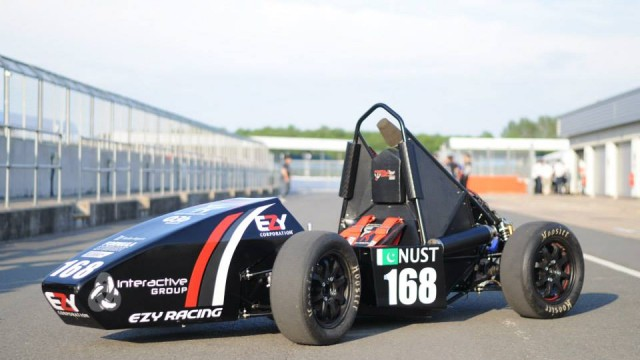 nust formula student team successfully tests impact