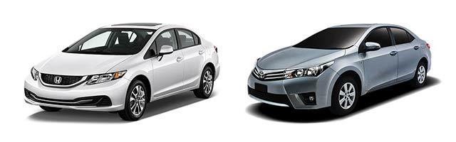 Honda Civic vs Toyota Corolla