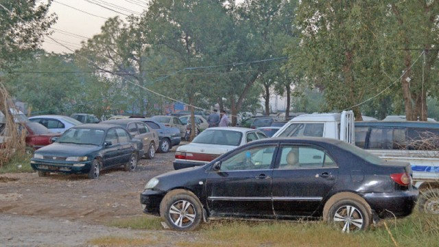 Impounded vehicles parked on the ACLC premises - Photo: Irfan Haider