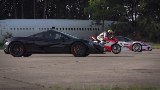 McLaren P1 vs. Porsche 918 Spyder vs. Ducati 1199 Superleggera