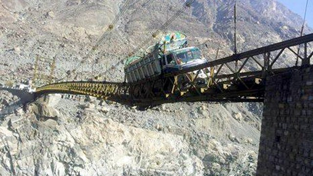 Alam Bridge Damage Gilgit Baltistan