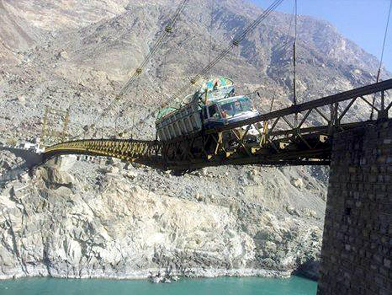 Alam Bridge Damage Gilgit Baltistan