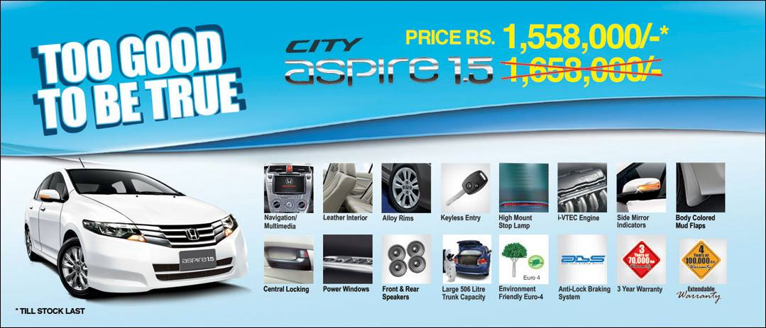 Honda City Aspire 1.5 Pakistan