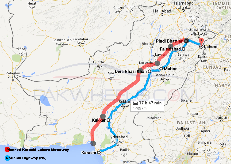 Lahore Karachi Motorway Plan Pakistan