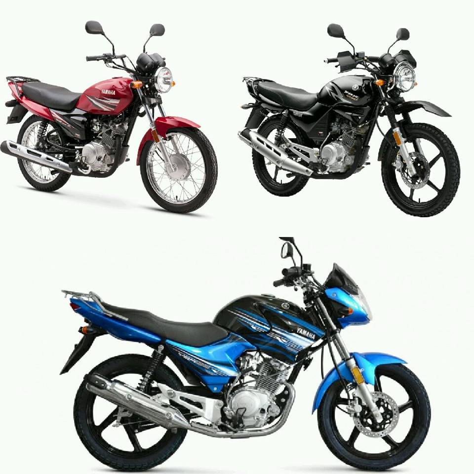 Photos of the 3 variants of Yamaha YBR 125