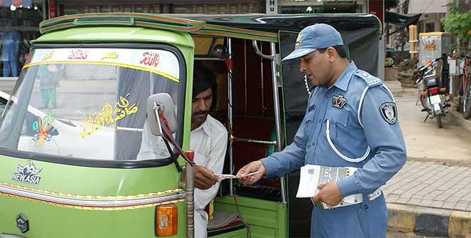 discrimination traffic warden lahore