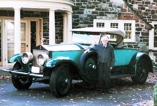 Allen Swift with his Rolls-Royce.