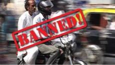 pillion riding ban faisalabad