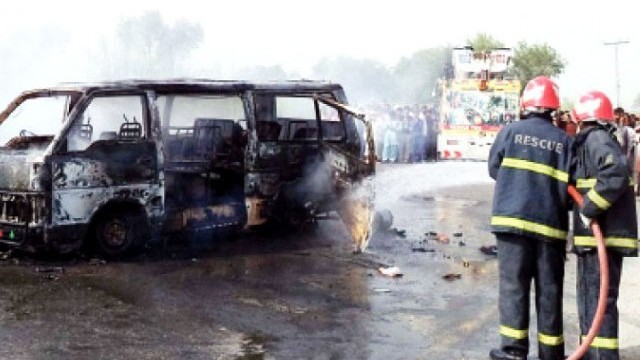 CNG Cylinder Blast in Pakistan