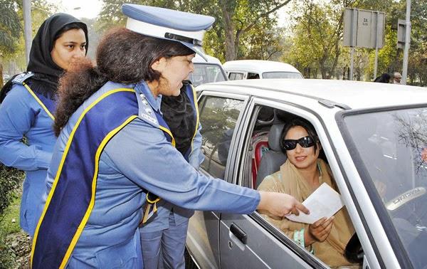 Lady Traffic Warden