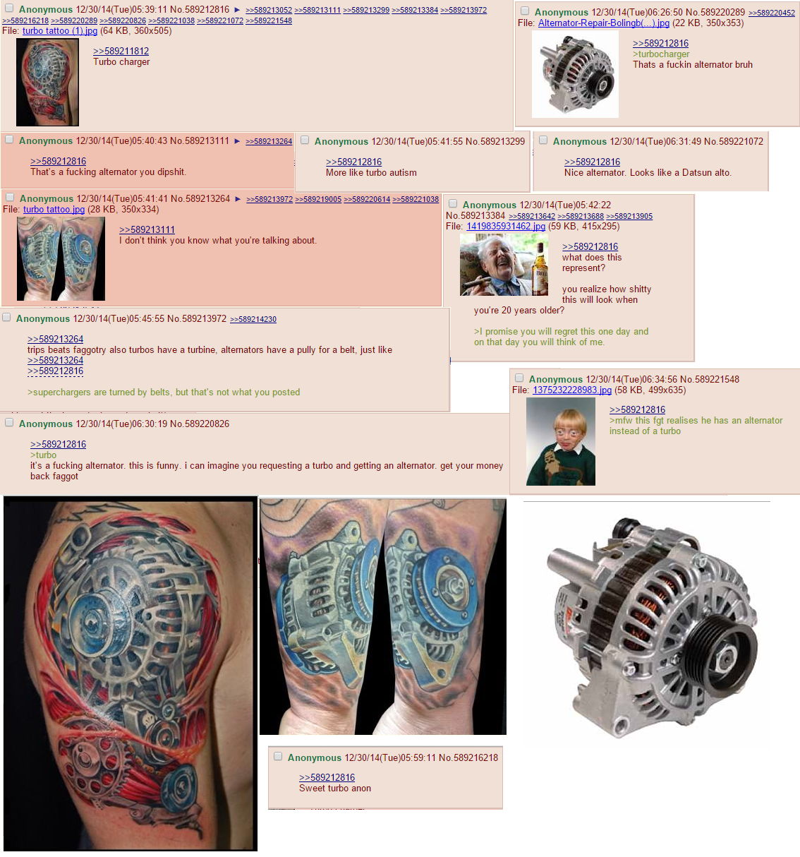Man Tattoo Turbo Alternator