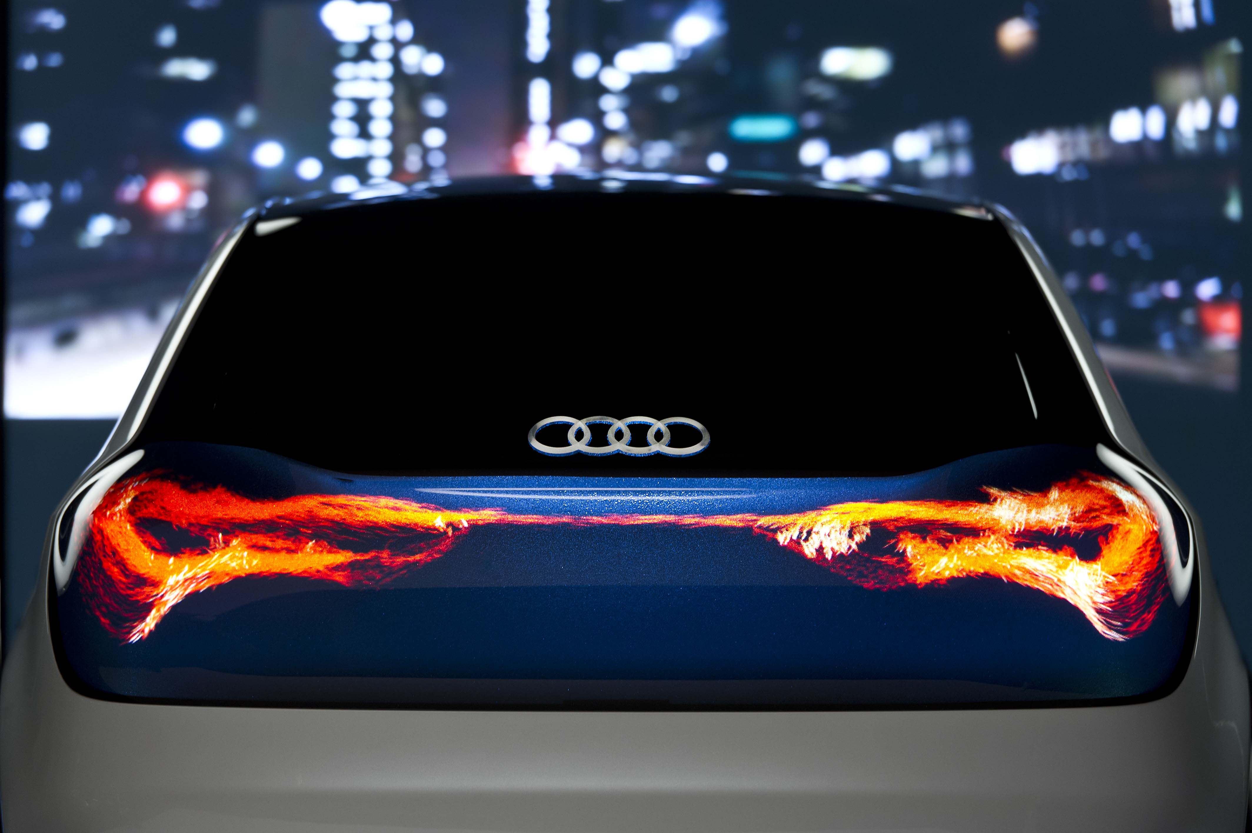Audi 39 s swarm oled concept is beautiful but illegal too pakwheels blog for Illegal to have interior car lights on