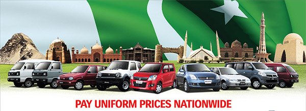 No Freight Charges on Whole Range of Pak Suzuki Vehicles