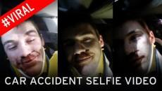 car accident selfie