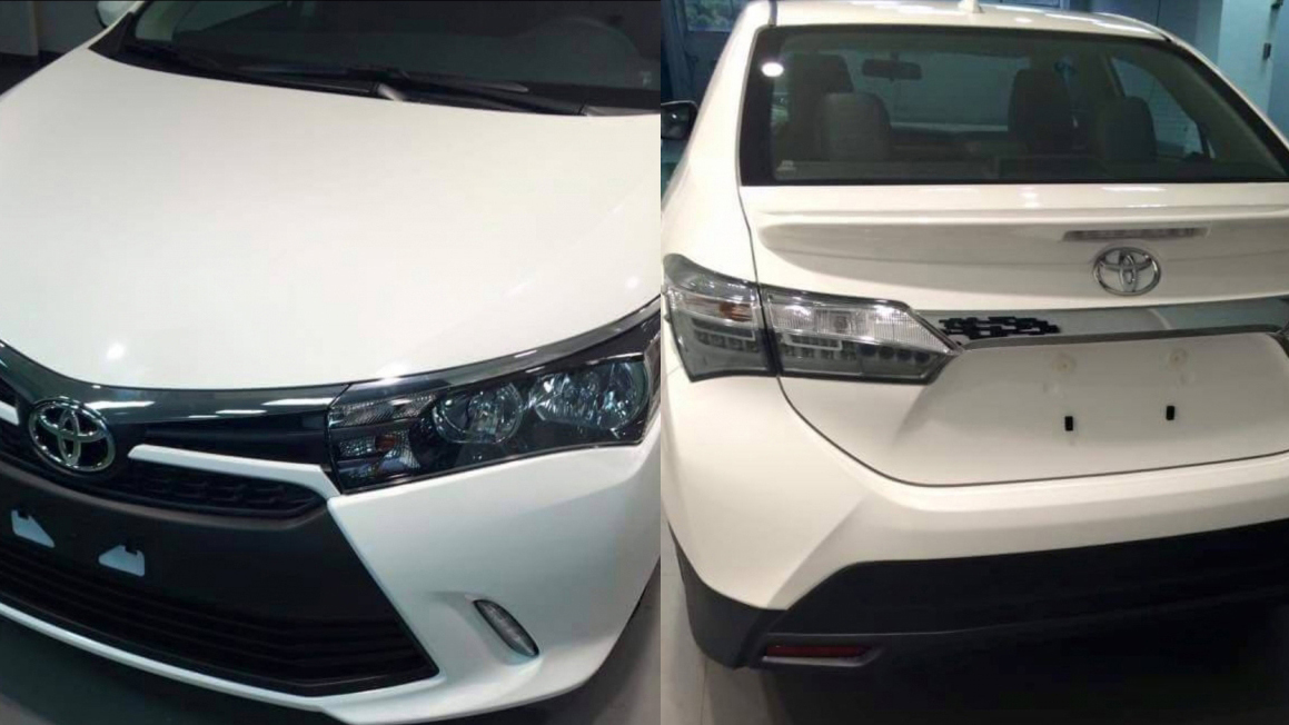 toyota corolla facelift spotted out in the open   spy