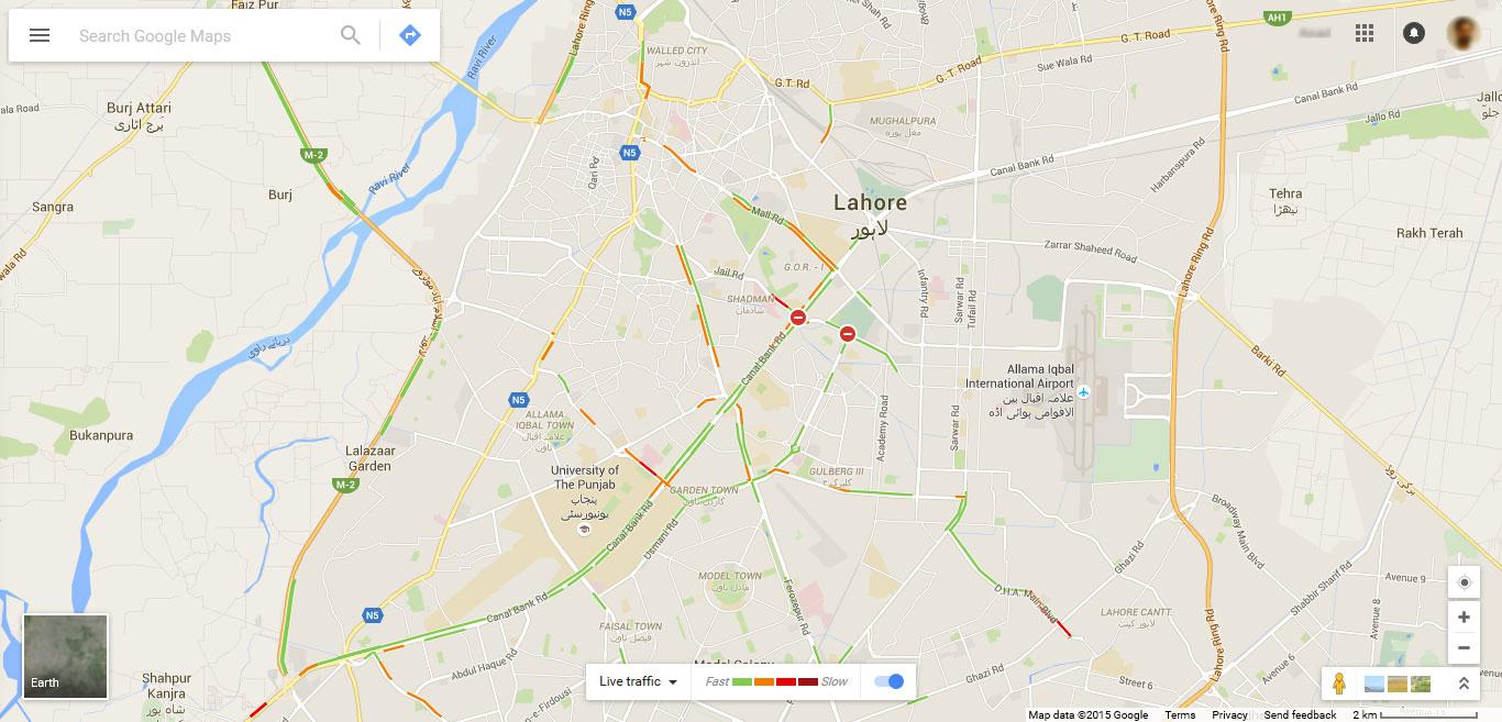 Google Live Traffic Map