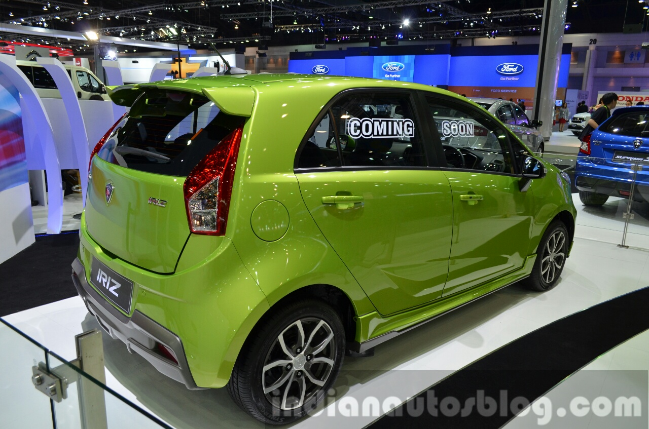 Proton-Iriz-rear-three-quarter-at-the-2014-Thailand-International-Motor-Expo