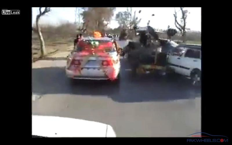 Wedding-car-crash