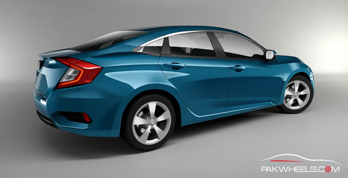 10th Generation Honda Civic Renders PakWheels (3)