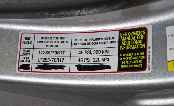 Toyota LC 200 Door Tyre Sticker